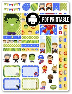 Heroes Avenging Decorating Kit PDF PRINTABLE by PlannerPenny