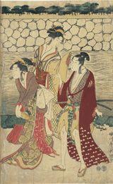 """BnF - L'estampe japonaise L'""""ukiyo-e"""", scènes du monde flottant centrées sur des sujets futiles ou sans prétentions."""