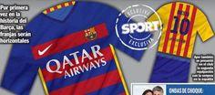 La camiseta del FC Barcelona 2015/16 será azul con franjas granas horizontales