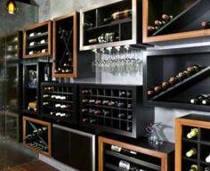 adega-de-madeira-para-sala-revista-viva-decora Liquor Cabinet, Storage, Furniture, Design, Home Decor, Wood Wall, Wine, Purse Storage, Decoration Home