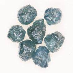 1.00 Ct Fancy Blue Natural African Rough Real Diamonds Lot