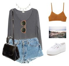 """""""Untitled #1050"""" by greciapaola ❤ liked on Polyvore featuring Levi's, Luna Skye, Superga, Fendi, RVCA and GANT"""