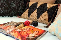 cushion *black medina* by moonshine + wool
