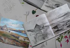 Cindie Reiter at Little Fish Studio Botanical Illustration, Botanical Art, Large Painting, Painting & Drawing, Sketchbook Challenge, Little Fish, Art Courses, Shelfie, Scottish Highlands