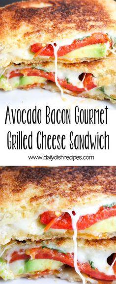 Avocado Bacon Gourmet Grilled Cheese