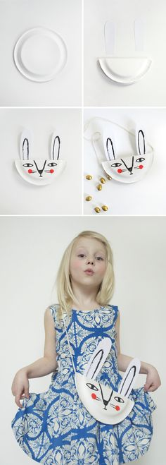 Mer Mag: DIY Bunny Paper Plate Purse