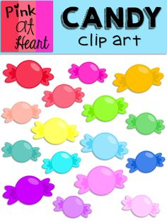 Candy Clip Art from kac2877 from kac2877 on TeachersNotebook.com (19 pages)  - 16 png bright, Candies clip art images!