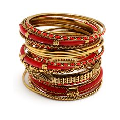 Amrita Singh Adreena Bangle Set ($48) ❤ liked on Polyvore featuring jewelry, bracelets, accessories, pulseiras, gioielli, women, ivory jewelry, amrita singh jewellery, amrita singh bangles and stacking bangles