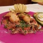Receta Calamares Relleno | ricetta calamari ripieni di Platano