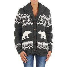 Love, love, love this holiday jumper by Banana Moon! #womens #winter #holiday #fashion #jumper #cardigan #christmas #greyjumper #cozy #uk