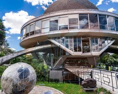 The Galileo Galilei Planetarium is a very cool U. looking building located in the Palermo Parks. It is just crossing the street from the Rosedal. Palermo, Mansions, Park, Street, House Styles, City, Building, Travel, Google