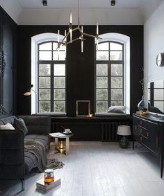 Moulures et Boiseries noires - Mini studio Staninka
