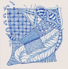 Studio ML: Challenge #187 drawn with a blue Micron pen and shaded with a watercolor pencil