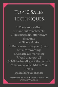 sale techniques This is an article that looks at the top 10 sales techniques that you should be using in all your sales. Business Sales, Business Money, Business Planning, Business Marketing, Business Tips, Business Quotes, Media Marketing, Sales Motivation, Business Motivation