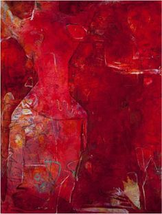 Abstract Art abstract red painting | And She Was Red by artist Alayna Rose