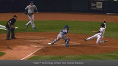 freeD at Yankee Stadium - Replay-Technologies • Being able to seamlessly move from side to side and around an entire play without switching shots will entertain and inform TV audiences on NBC.