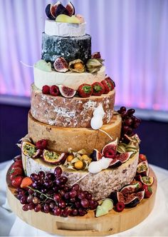 tiered wedding cake made of cheese - Google Search