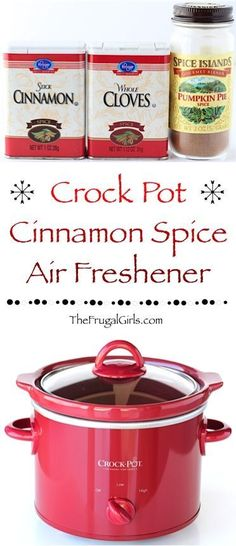 DIY Cinnamon Spice Air Freshener in the Crockpot! ~ at http://TheFrugalGirls.com ~ This yummy Cinnamon Spice fragrance wafting through your home is perfect for any day… and the must-have air freshener at the holidays or when guests come over!  Your home will smell AMAZING!!  Go grab your Crock Pot! #thefrugalgirls