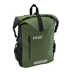 COR Waterproof Dry Bag Backpack with Padded Laptop Sleeve (Green, Travel Backpack, Backpack Bags, Waterproof Laptop Backpack, Backpack Reviews, Laptop Sleeves, Gym Bag, Backpacks, Stuff To Buy, Surf