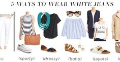 jillgg's good life (for less)   a west michigan style blog: 5 ways to wear... white jeans