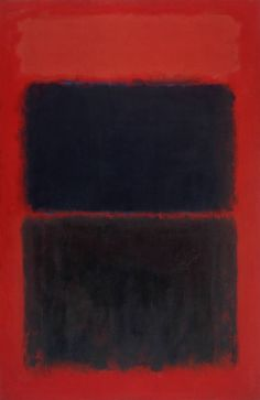 Light Red Over Black, 1957 | Oil on canvas | 230,6 x 152,7 cm | Mark Rothko  From Tate: In his mature work, Rothko abandoned specific reference to nature in order to paint images with universal associations. By the late 1940s, he had developed a style in which hazy, pulsating rectangles float within a vertical format. He explained that these shapes 'have no direct association with any particular visible experience, but in them one recognises the principle and passion of organisms...