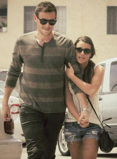 Cory Monteith and Lea Michele out for breakfast at The Griddle Cafe in LA on Tuesday, May 21. #monchele