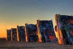 Cadillac Ranch.   36 Nature Photos That Prove Texas Is Not Just Tumbleweeds via @buzzfeed
