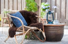 "This cosy outside sit-down is from our feature ""Go Bold"""