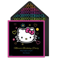 Customizable, free Hello Kitty Tween online invitations. Easy to personalize and send for a Hello Kitty birthday party. #punchbowl