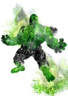 Incredible Hulk Print Hulk Marvel Superhero por RosalisArt en Etsy