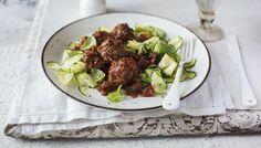 Italian style meatballs with courgette 'tagliatelle'