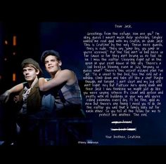 Letter from the Refuge - Newsies