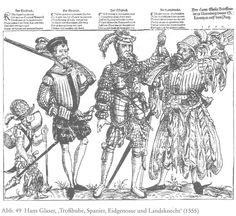 A boy of the baggage, a spanish arquebusier, a Swiss pikeman 1555 and a Landsknecht doppel-schütze - See this image on Photobucket.