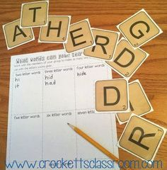 Word Building Freebie! The letters spell out the name of your grade. This would be fun in a word center or a special activity on an early release day.