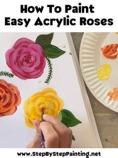 Ste Canvas Painting Projects, Painting Lessons, Art Lessons, Art Projects, Painting Tutorials, Acrylic Paintings, Painting Tips, Oil Paintings, Acrylic Painting Flowers