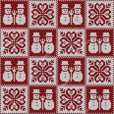Hermoso para un cojin navideño!!! Xmas Cross Stitch, Cross Stitching, Cross Stitch Embroidery, Cross Stitch Patterns, Double Knitting Patterns, Knitting Charts, Knitting Stitches, Christmas Embroidery, Christmas Knitting