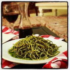 Deliciosos spaghetti al Pesto ★★★★★