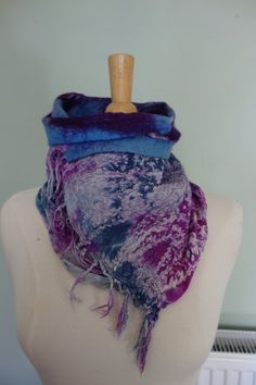neck scarf nuno felted neck wrap multi coloured by hipposinhats