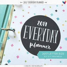 L 2017 Everyday Planner PDF 8.5 x 11 A4 Letter by MissTiina