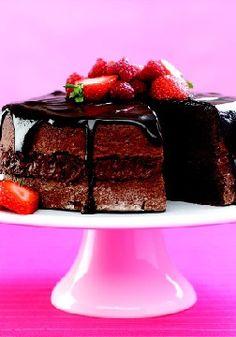 Chocolate-Sour Cream Cake .