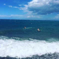 We love our location right at the beach!Here you see two of our lovely guests taking a refreshing swim Would you dare to join?! by sunprimeplatanias