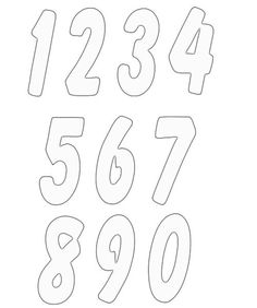 numbers clipart image 4 #FONTS #TYPOGRAPHY