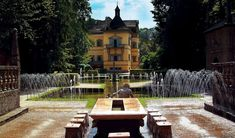 Schloss Hellbrunn, Salsburg, Austria.... probably the world's first water park. look it up and if you're ever in Austria, it's a great place to visit.