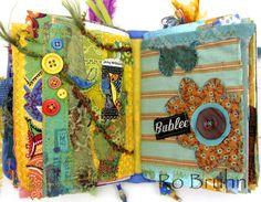 Ro Bruhn Art fabric journals
