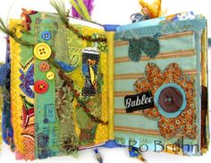 Ro Bruhn Art fabric journals