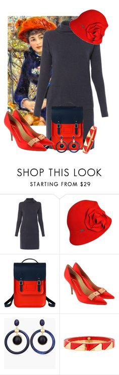 """""""Impressionists 4/5: Pierre-Auguste Renoir"""" by tlb0318 on Polyvore featuring Peserico, Betmar, The Cambridge Satchel Company, Giuseppe Zanotti, Chico's and Tory Burch"""