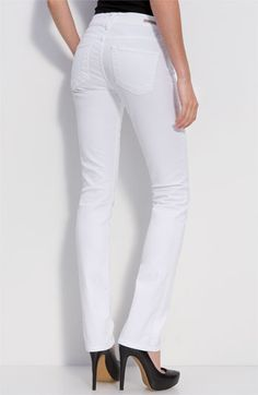 Sraight leg white jeans are perfect for summer and create a balance paired with dark and print tops. Citizens of Humanity 'Elson' Straight Leg Jeans (Santorini Wash) | Nordstrom