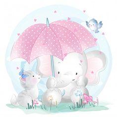 Cute Cartoon Elephant And Balloons Illustration Cute Pink Background, Elephant Background, Background Images, Little Elephant, Cute Elephant, Colorful Drawings, Cute Drawings, Adobe Illustrator, Balloon Illustration