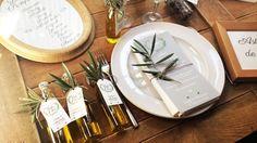 Fiole d'huile d'olives By Féeline création, www.feelinecreation.com, cadeaux invités originaux, provence, made in nice, menu olivier, thème provence, nature, brin d'olivier