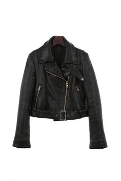 Black Leather Biker Jacket christmas gifts by by CUSTOMDUO on Etsy